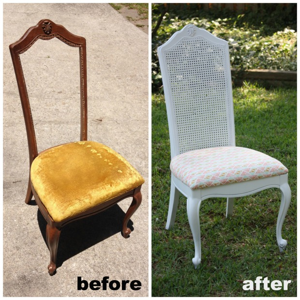 Chair - before and after